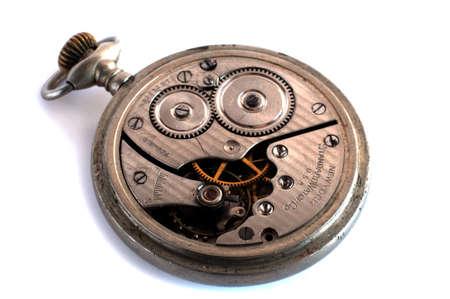 pocket watch: Old pocket watch mechanism Stock Photo