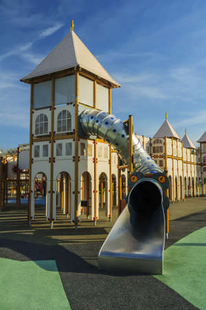 Children playground equipment,slide  photo
