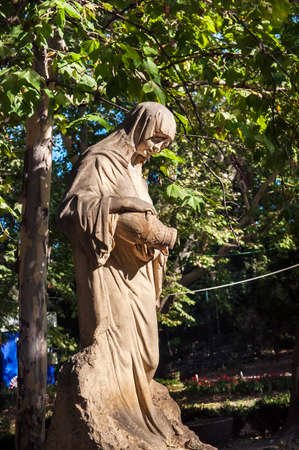 Source Sissi Stefanidi located in Bucharest CiÅŸmigiu is a sculpture made representing a mother grieving the death of her daughter and  pouring water
