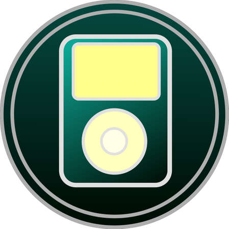 Music symbol icon button vector. Vector