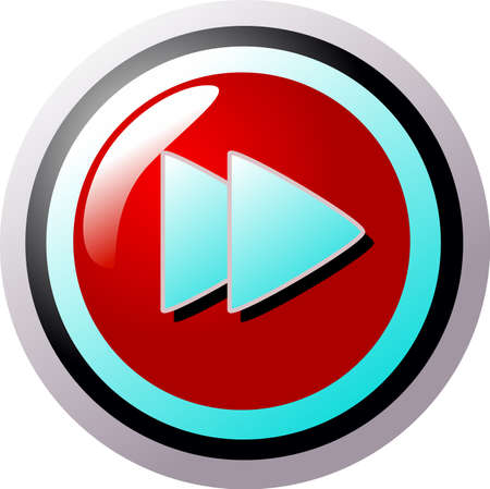 Next button red and turquoise Stock Vector - 5316675