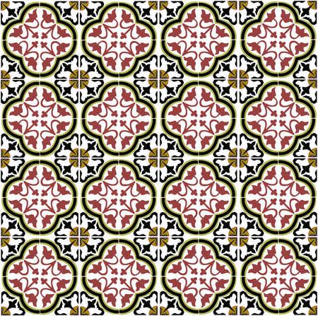edwardian: Tile pattern vector.