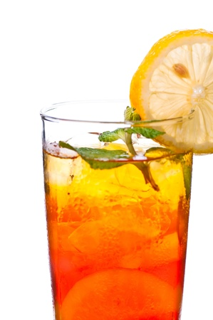 iced tea: A fresh cool ice lemon tea to be enjoyed anytime of the day