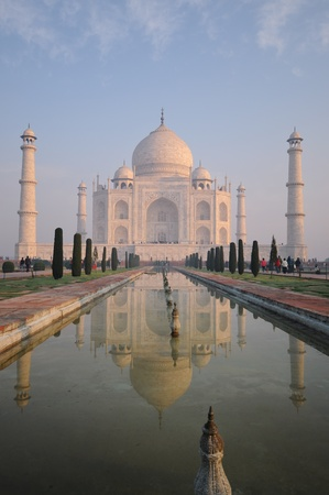 mughal: The Taj Mahal is a mausoleum located in Agra, India, built by Mughal emperor Shah Jahan