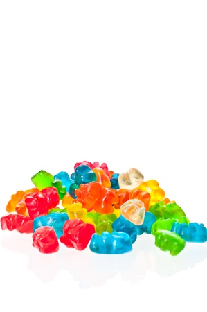 A stack of colorful fruit candies  Stock Photo