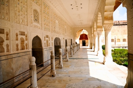 Marble creations at Amber fort Jaipur photo