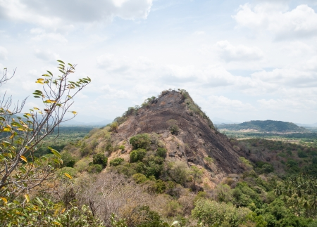 Rocky hill near the Dambulla Cave Temple, Sri Lanka Stock Photo - 17300921
