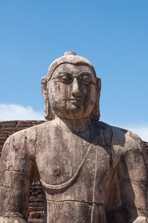 samadhi: Buddha statue close up in Vatadage in ancient city of  Polonnaruwa, Sri Lanka
