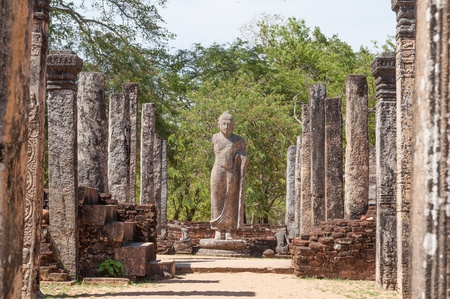 The Atadage in ancient city of Polonnaruwa, Sri Lanka  The Atadage was built by King Vijayabahu I to house the sacred tooth relic of Buddha   photo