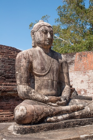 samadhi: Buddha statue close up in Vatadage, ancient city of Polonnaruwa, Sri Lanka