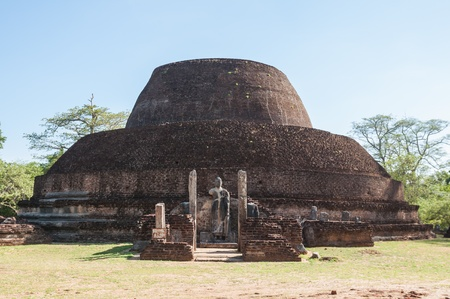 Pabalu Vehera in ancient city of Polonnaruwa, Sri Lanka  This stupa was built by Queen Rupawathi, one of the queens of King Parakramabahu  photo