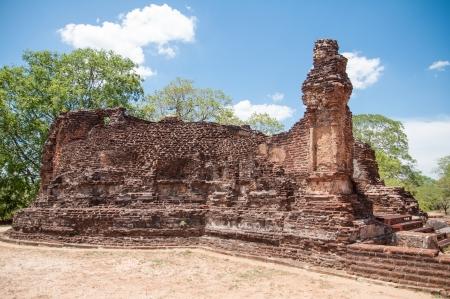 vihara: Potgul Vihara or Library Monastery in ancient city Polonnaruwa, Sri Lanka