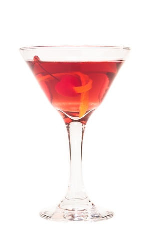Manhattan cocktail,  a classic cocktail before dinner photo