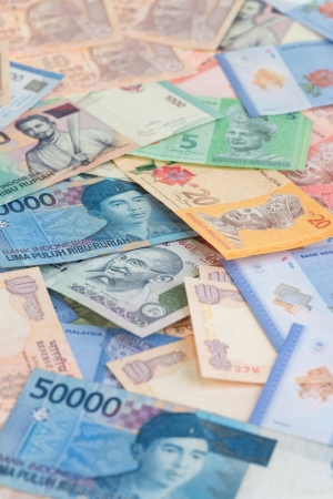Asian currencies background vertical