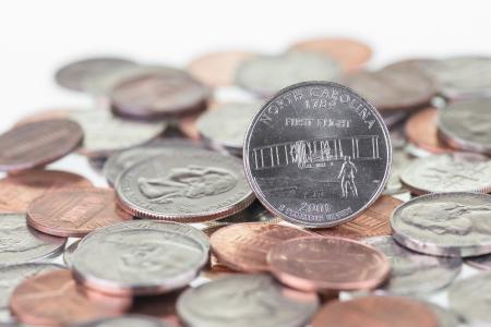 pluribus: North Carolina State Quarter reverse extreme close up