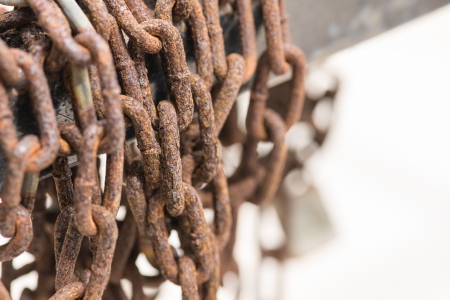 Old weathered rusty chain  photo