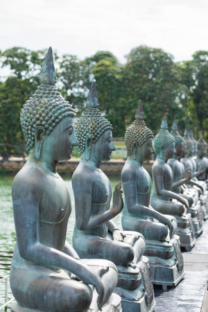 colombo: Buddha statues in Seema Malaka Temple in Colombo, Sri Lanka  Stock Photo