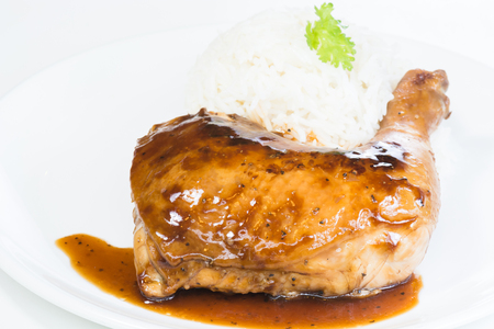 Authentic south east asian  cuisine - Chicken Adobo Stock Photo