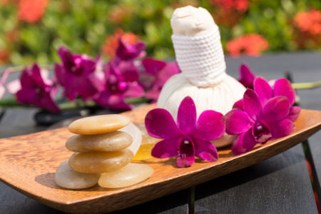 Outdoor Herbal Spa Massage in the garden