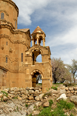 Akdamar Island church on Van Lake Turkey  This temple is popular tourist destination and picnic sight  photo