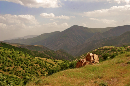 Iraqi mountains in autonomous Kurdistan region near Iranian border photo