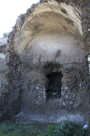 felice: Ruins of a Roman villa at Capo di Sorrento in Italy. Some sources claim the villa was built by Pollio Felice in the first century BC.