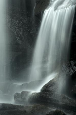 chapman: Chapman Falls in long exposure onto rocks at Devils Hopyard State Park, Connecticut. Vertical image.