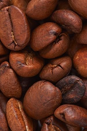 bumpy: Grains of black coffee