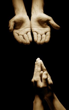 holy  symbol: Hombre que ruega a dios Foto de archivo