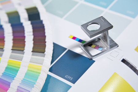 色の管理を押します 写真素材
