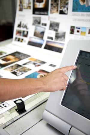 imprenta: producción de una impresión