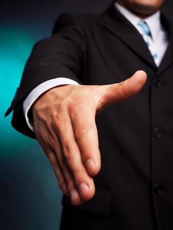 smartness: young business man hand