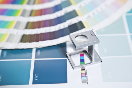 image editing: Press color management Stock Photo