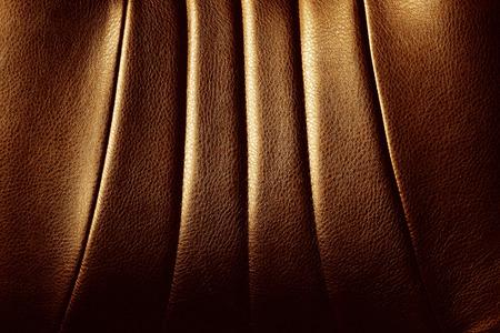 Echte und Eleganz aus braunem Leder Textur Detail.