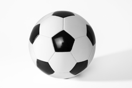 asiatic: Black and white soccer ball with shadow.