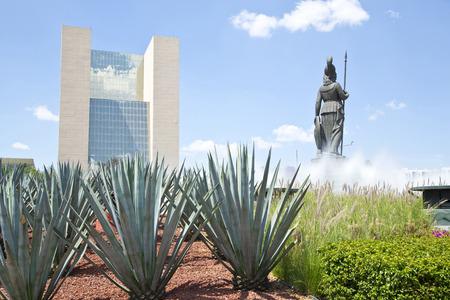 minerva: La Minerva Monuments of Guadalajara, Jalisco, Mexico Stock Photo