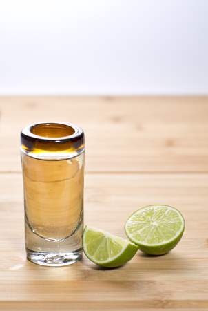 shot: tequila shot with  lime