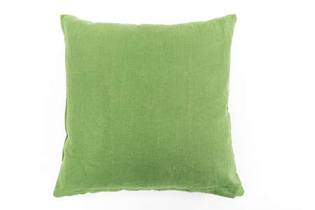 texture detail of a green pillow in white background