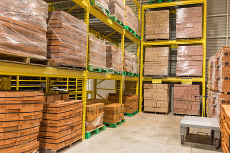 Warehouse of materials for construction. Big warehouse Banque d'images