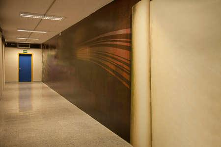 Hallway with emergency exit