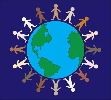 Illustration of the diversity of people Illusztráció