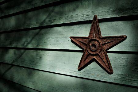 Vintage iron earthquake star Stock Photo