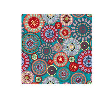A seamless pattern illustration of colorful and festive circles. Great for funky backgrounds.