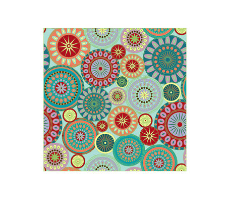 A seamless pattern illustration of colorful and festive circles. Great for pretty backgrounds. Illusztráció