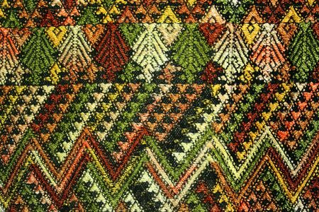 Detail of a zig zag pattern on ethnic fabric Stock Photo - 5902292