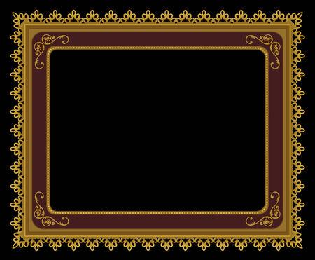Una cornice elegante frontoni oro  Archivio Fotografico - 6322475