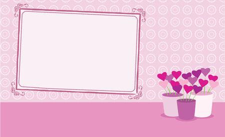 Valentine card with copyspace Illusztráció