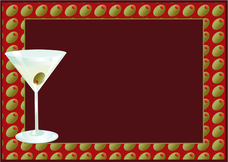 Illustration of a cocktail party invitation