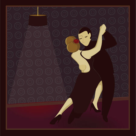 Two dancers in a dimly lit dance club Vector