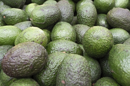 Detail of a set of avocados photo